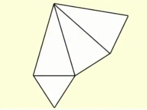 三角すいの展開図
