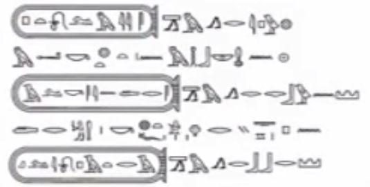 古代エジプト文字