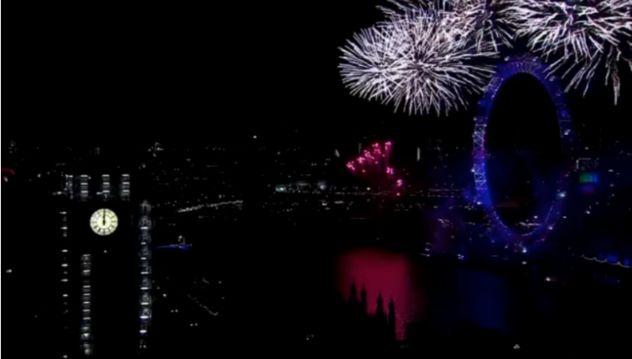 ロンドンアイの年越しイベント
