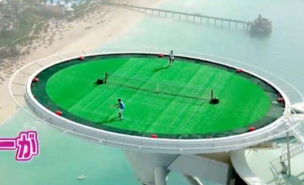 ブルジュ・アル・アラブのテニスコート