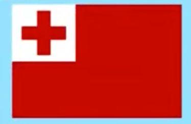 トンガ王国の国旗