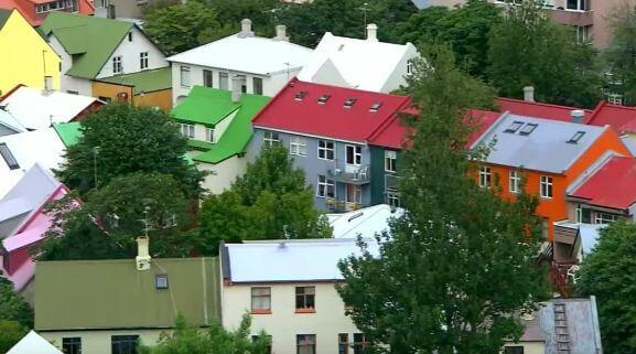 アイスランドの首都レイキャビクの街並み