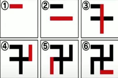 「卍」の書き順