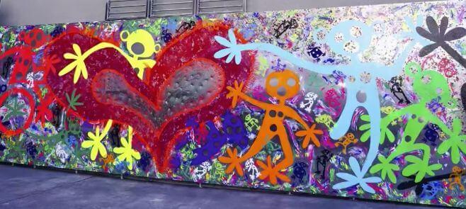 青山学院大学の壁画アート