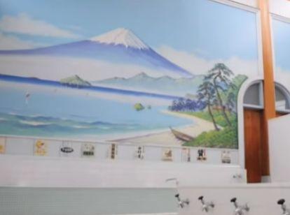 銭湯の壁の絵