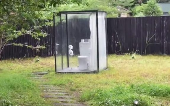 小湊鉄道の飯給駅にある公衆トイレ