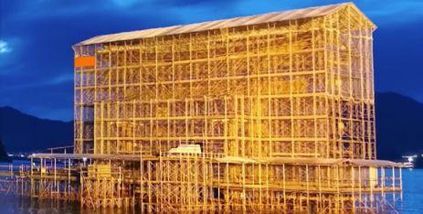 厳島神社の修理工事
