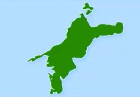 愛媛県の形