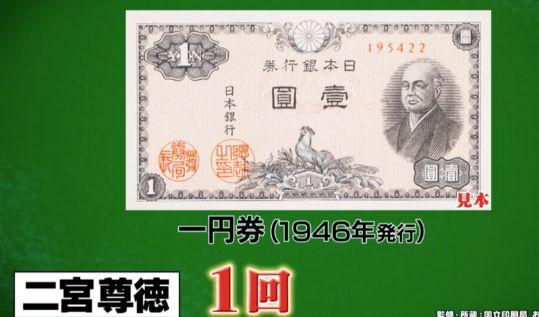 二宮尊徳 紙幣